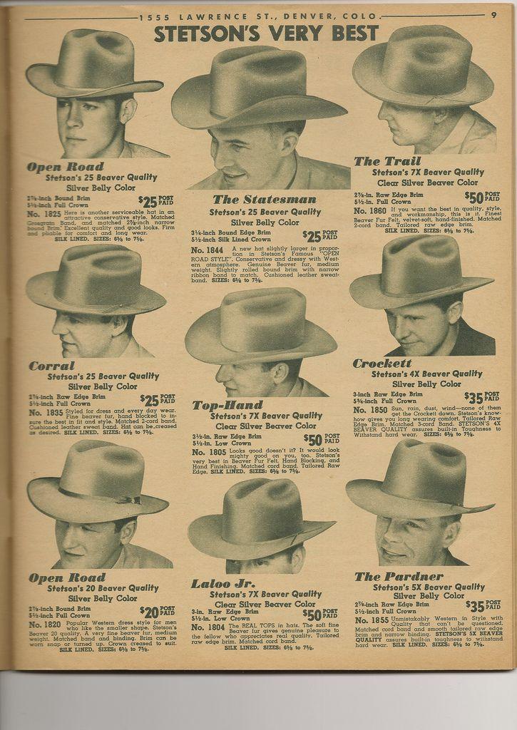 Hats Vintage Cowboy Hat Styles Western Hats