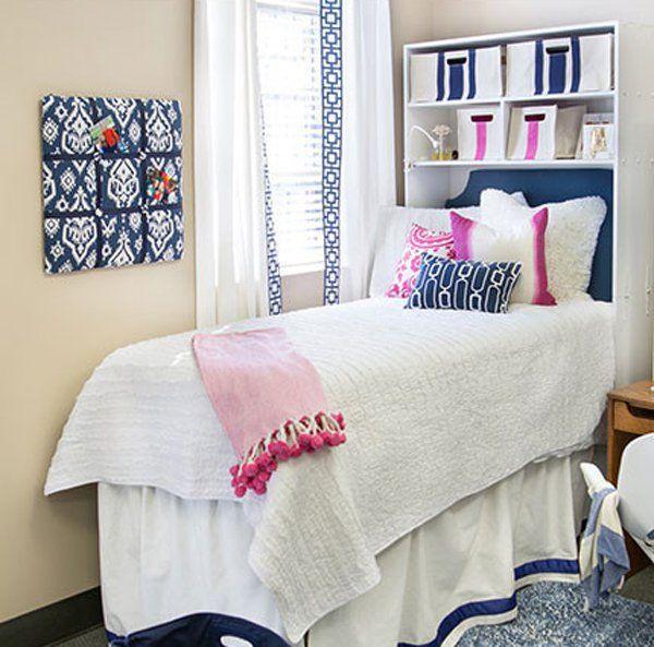45 creative dorm room ideas white rooms dorm and dorm room rh pinterest com