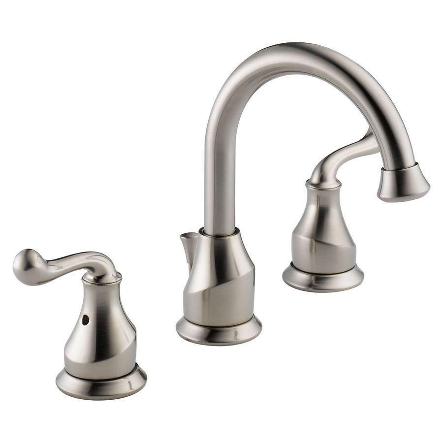 delta talbott stainless 2 handle widespread watersense bathroom sink rh pinterest com