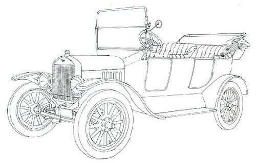 classic car coloring pages model t ford