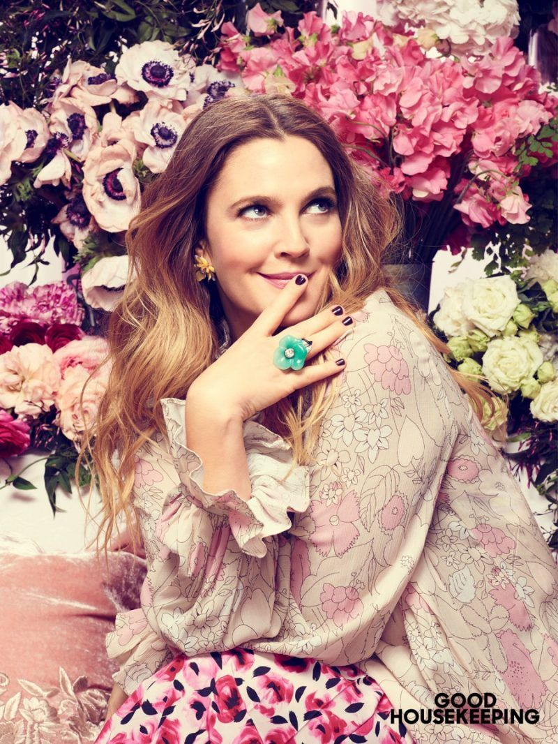 Drew Barrymore Covers Good Housekeeping Talks Flower Beauty