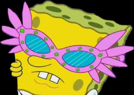 Bob Esponja Con Lentes Png Spongebob Goth Disney Aufkleber
