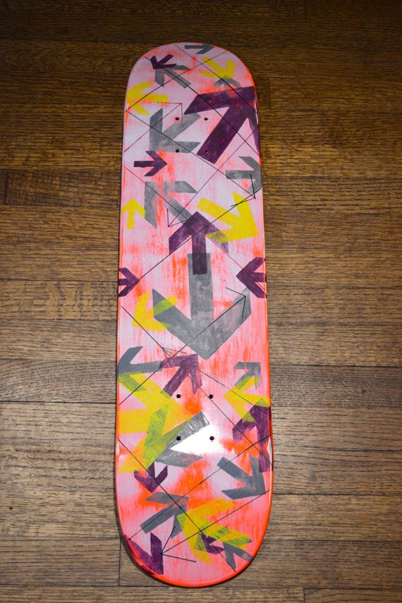 Original Skateboard Deck Wall Art by artbyjulieg on Etsy $50.00 & Original Skateboard Deck Wall Art by artbyjulieg on Etsy $50.00 ...