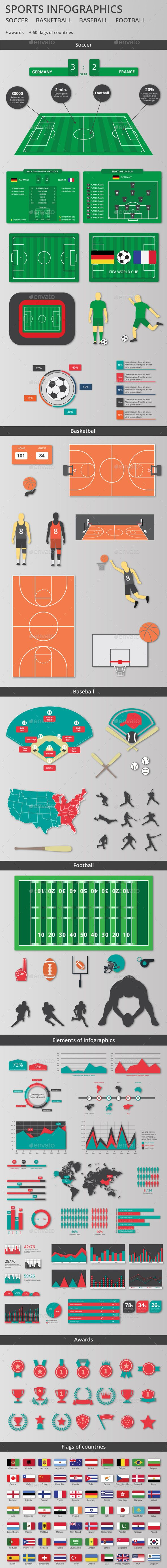 Sports Infographics Kit Infographics Infographic Templates And