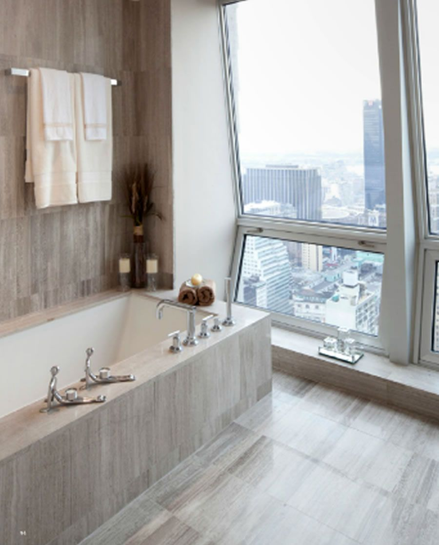 High Quality Modern Luxury Residential Bathroom Furniture Design Setai 400 Fifth Avenue  Residence Manhattan NY