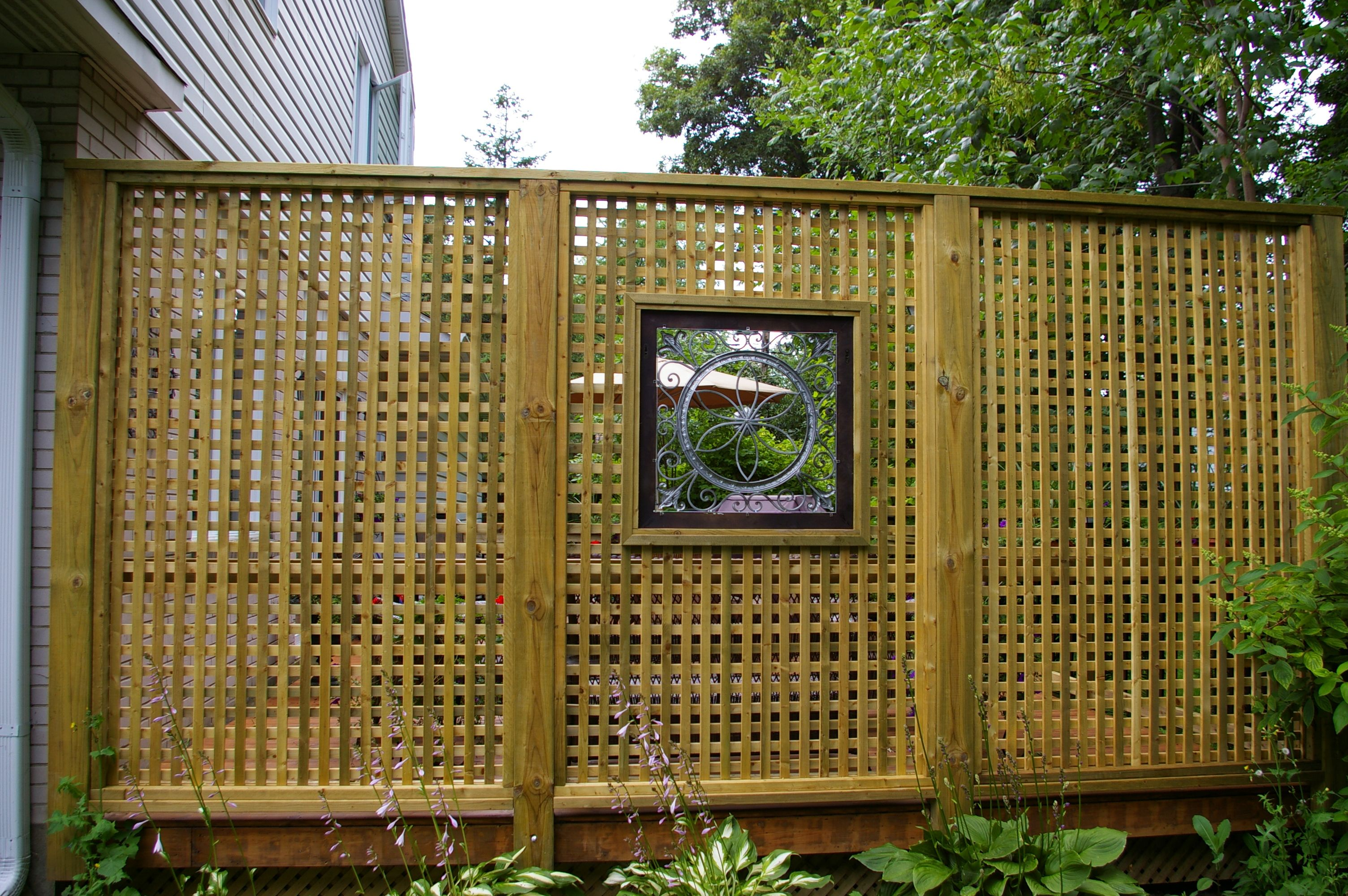fencing: outstanding bamboo privacy screen design with wood deck
