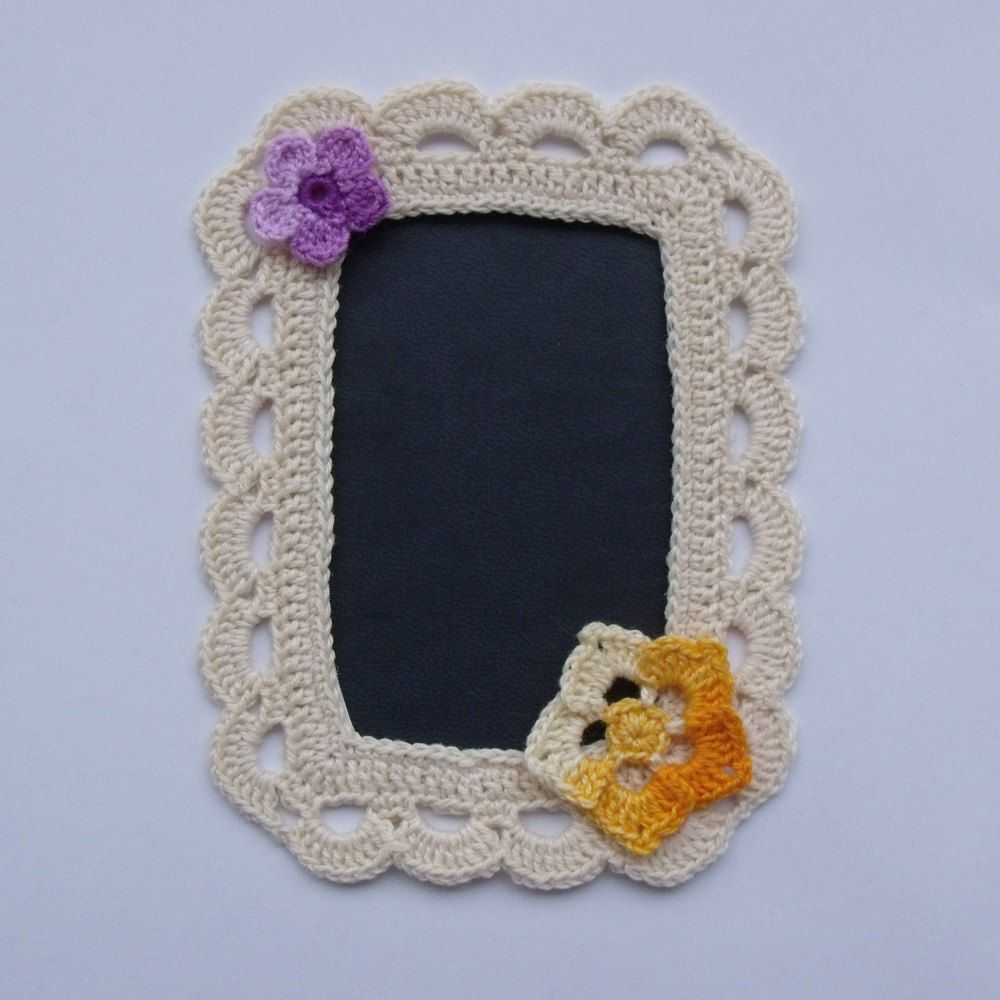 Card Making Embellishment Ideas Part - 45: Handmade Crocheted Picture Frame - Scrapbooking Or Card Making Embellishment.  $8.50, Via Etsy.