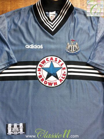 Relive Newcastle United's 1996/1997 season with this vintage Adidas away football shirt.