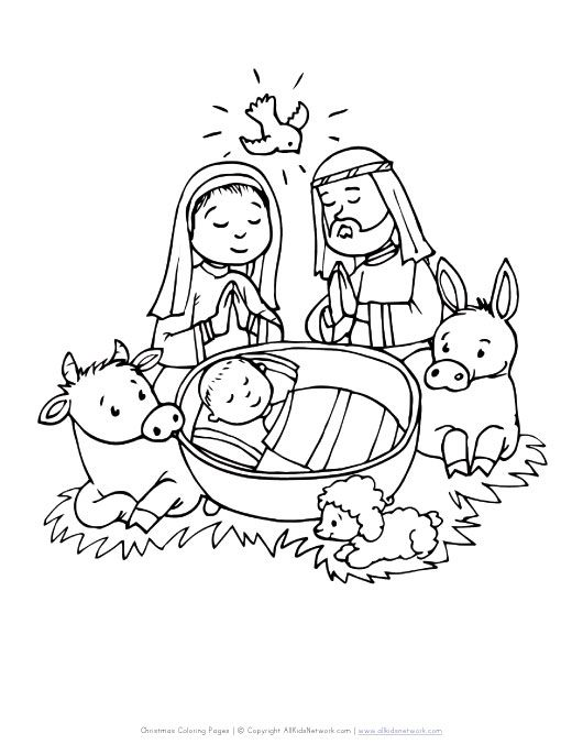 Christmas Baby In Manger Coloring Page Christmas Coloring Pages