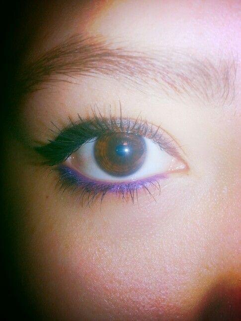 purple for brown eyes