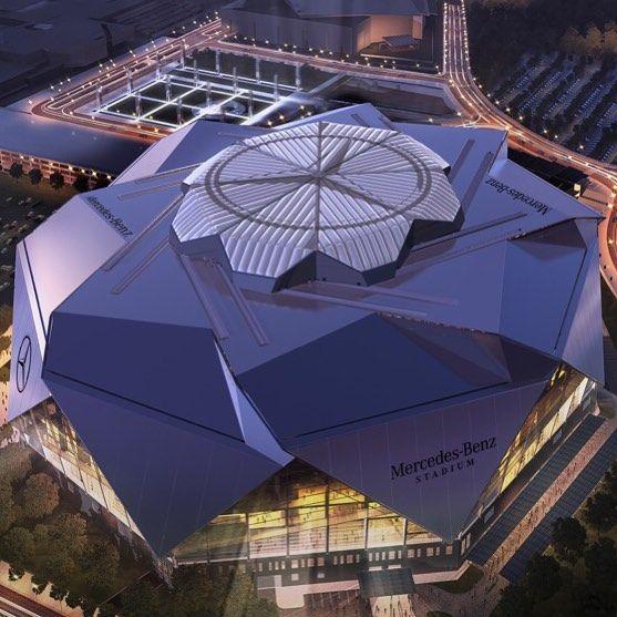 Our new home mercedes benz stadium mbstadium riseup for Falcons mercedes benz stadium