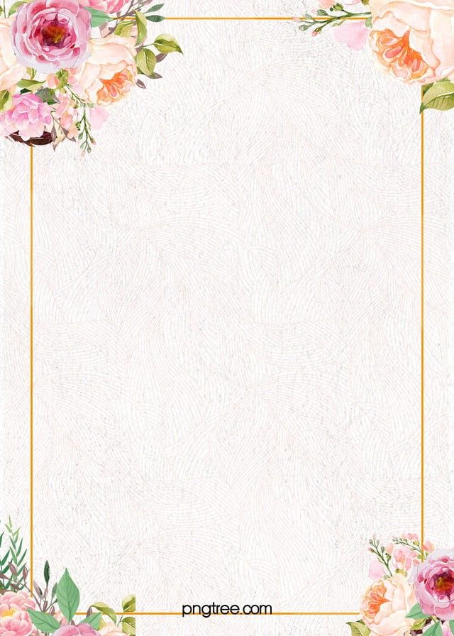 Bingkai Dinding Latar Belakang Cat Air Bunga Kejelasan Kecil Aquarela Floral Molduras Para Convites De Casamento Frame Floral