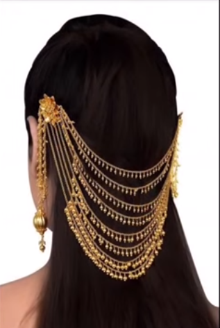 Fashion Jewelry Bollywood Hair Jewelry Stone Indian Hair Pin With Earring Bridal Hair Bandh Pin Hair & Head Jewelry