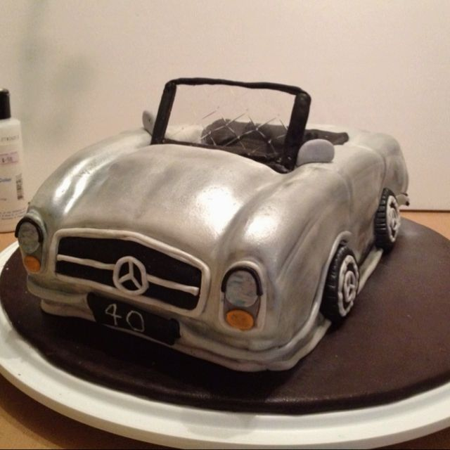 1969 mercedes benz 280sl cake decor ideas pinterest for Mercedes benz birthday cake