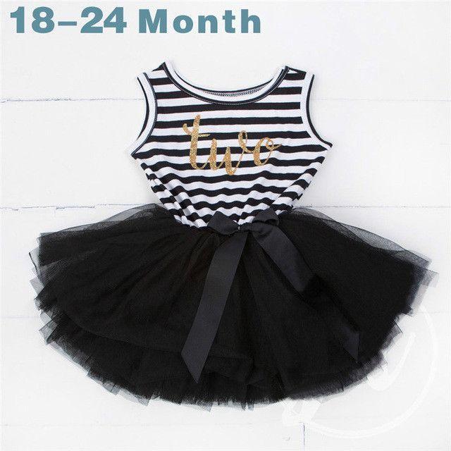 Summer Baby Girl 1 2 3 Year Birthday Dresses for Newborn Baby Girls ...