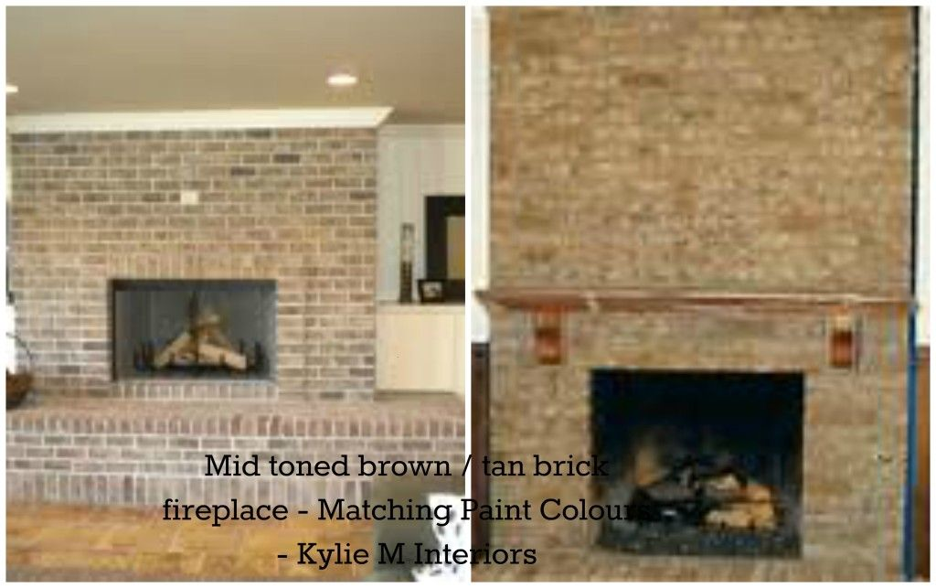 Brown Painted Brick Fireplace These Tan And Brown Brick Painted Brick Fireplaces Brick Fireplace Fireplace