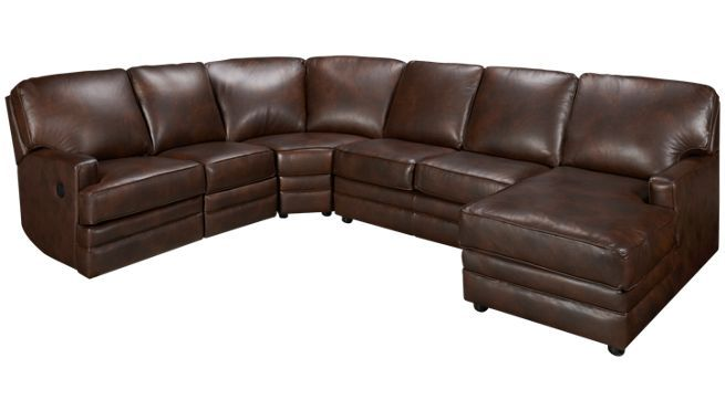 Lovely Cheers Furniture: Pillow Arm Reclining Sectional Sofa With Chaise And  Console. | I Want I Want I Want... Wants Will Hurt Yoh | Pinterest |  Reclining ...