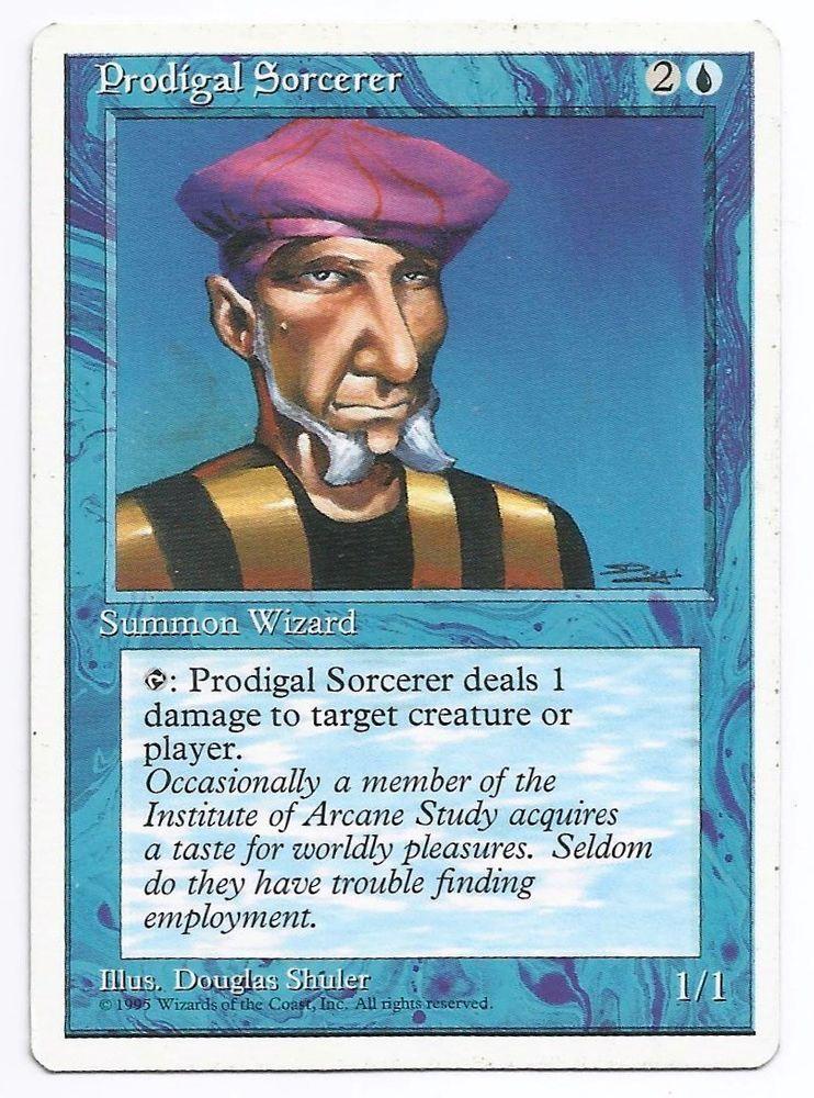 prodigal sorcerer x1 mtg 4th fourth core blue creature magic card