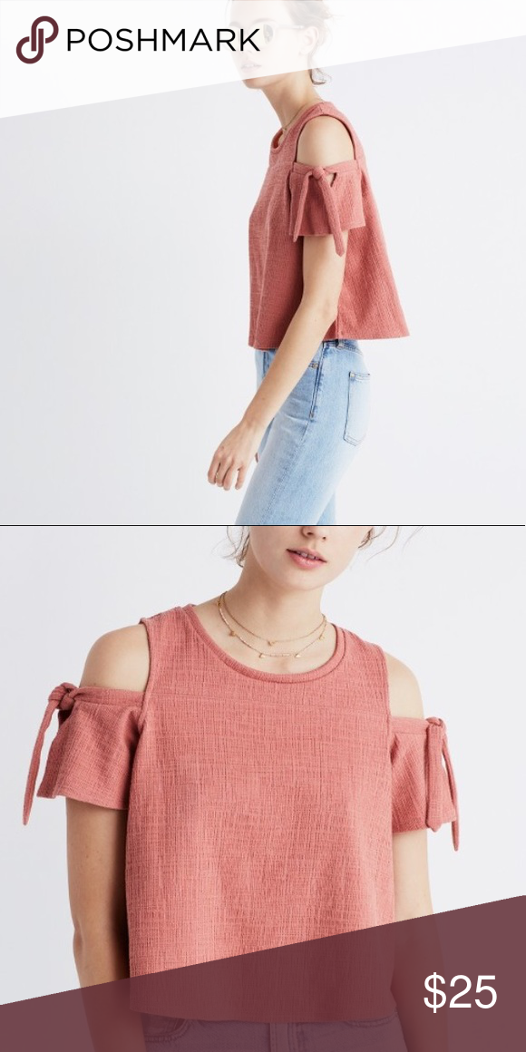 d70ca1d36e39cc Madewell Skylark Cold Shoulder Top In dusty rose color. Excellent