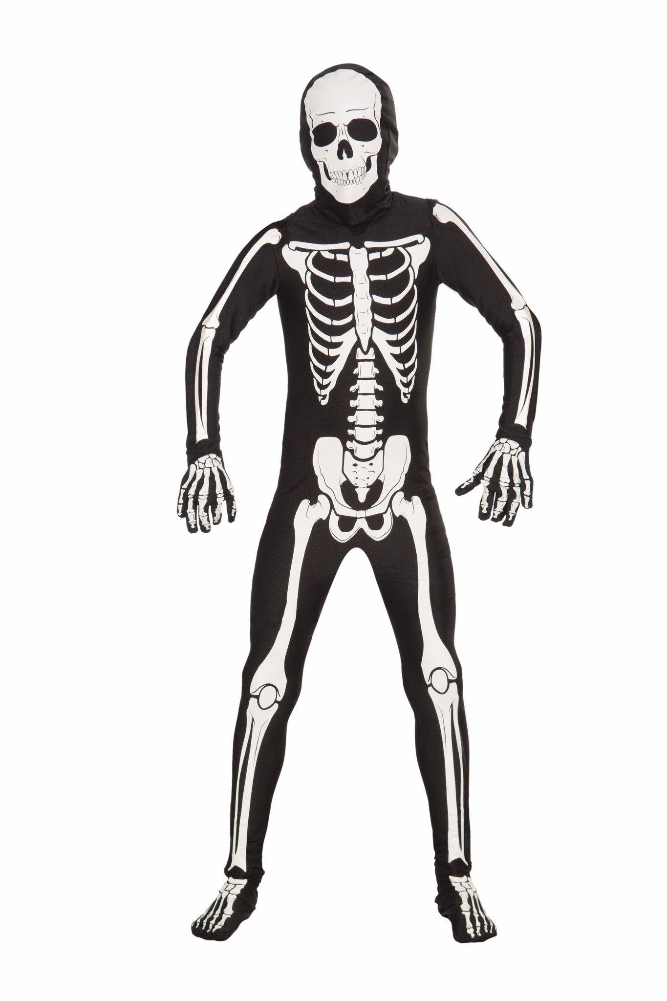 Forum Novelties Mens Skeleton Man Bone Skin Suit Adult Costume