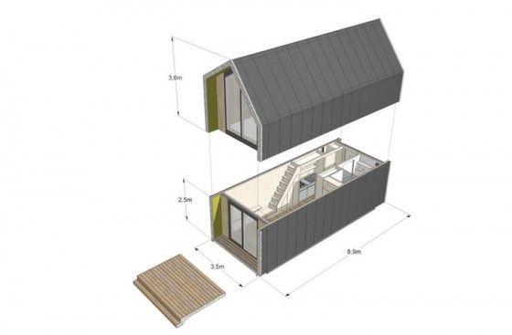 Diseo de casa prefabricada de fcil instalacin y alimentado de