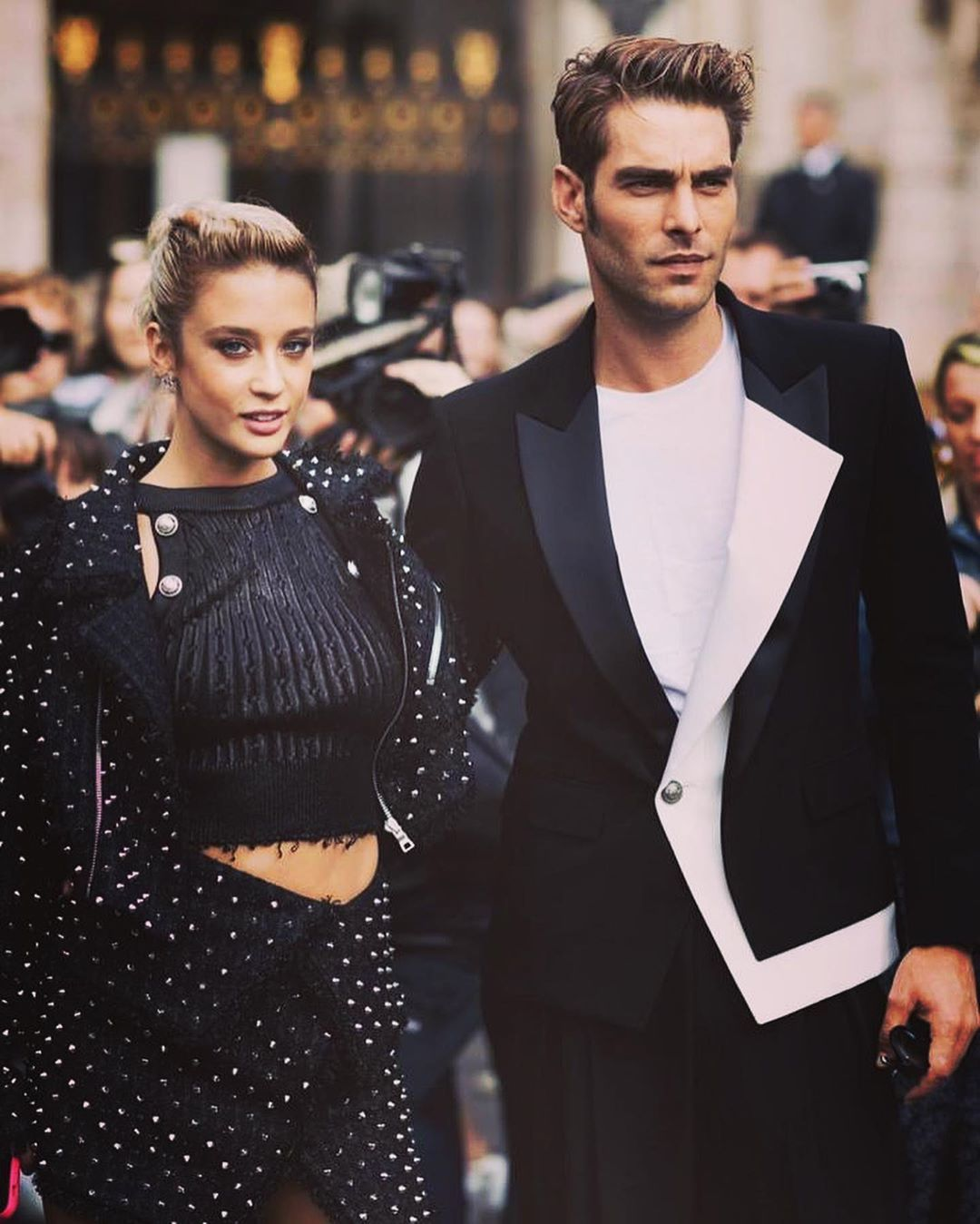 "Jon Kortajarena on Instagram: ""B A L M A I N by @olivier_rousteing  Thank you for having me.  #mariapedraza #katherinelangford #balmain #olivierrousteing #paris #pfw…"""