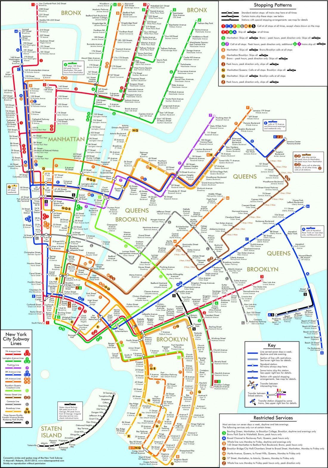 Jackson Heights Subway Map.Des Cartes Du Metro Deformees Pour Une Lecture Facilitee Wnm801