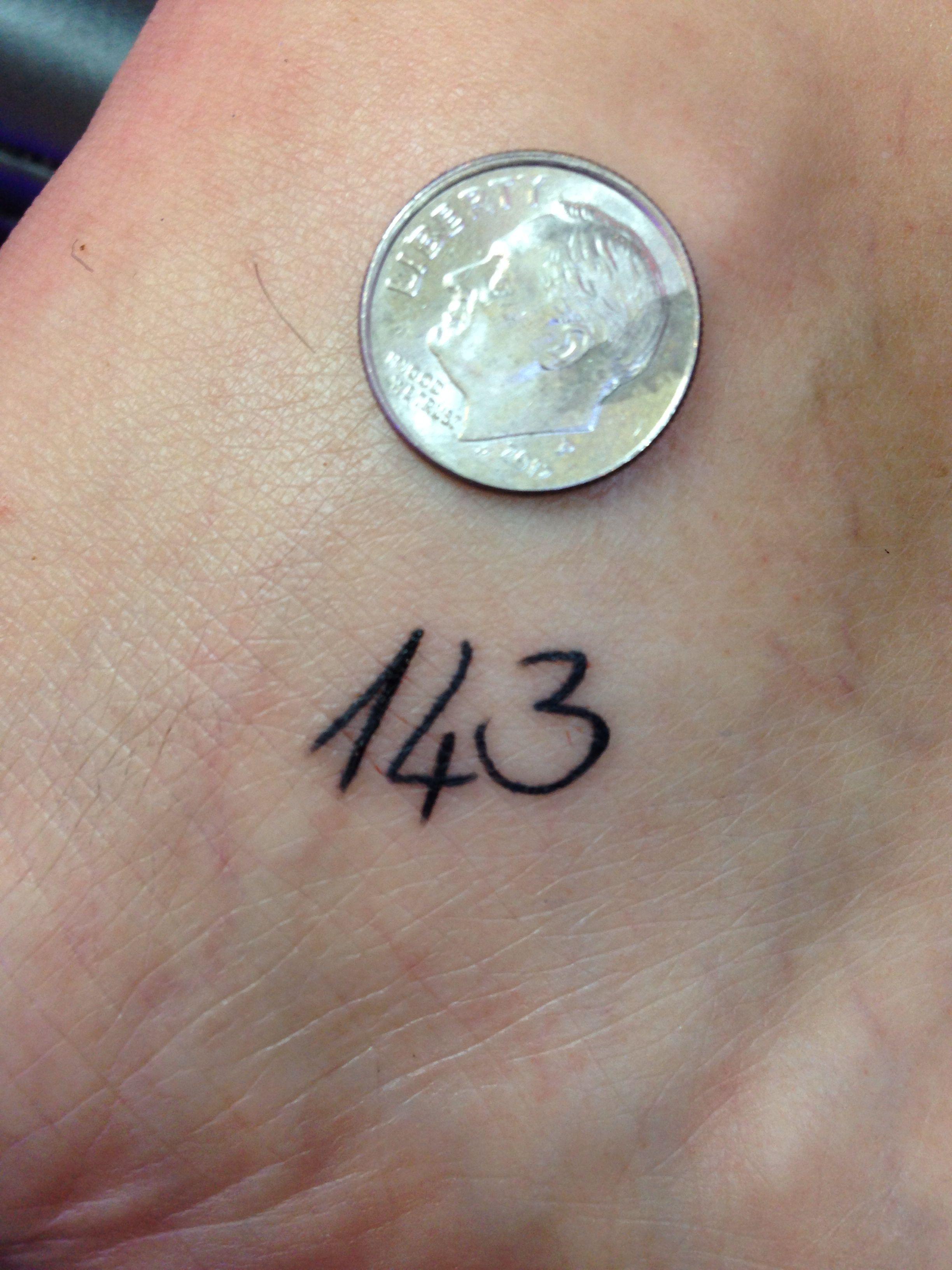 Smaller Than A Dime 143 Love Couple Tattoos Tattoo For Son Bts Tattoos