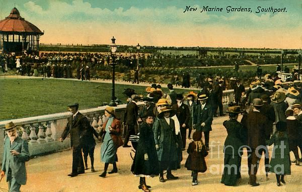 Made in and shipped from the UK! 1890s New Marine Gardens Southport art prints