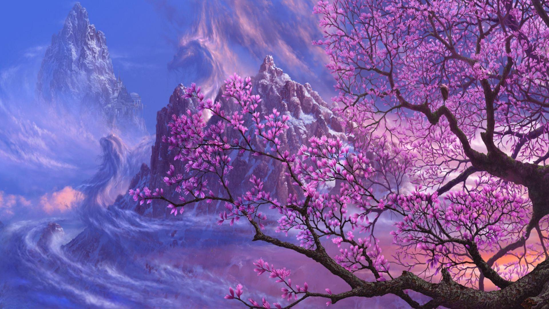 Tree Art Planet Light Fantasy Scifi Galaxy Sky Stars Wallpaper At