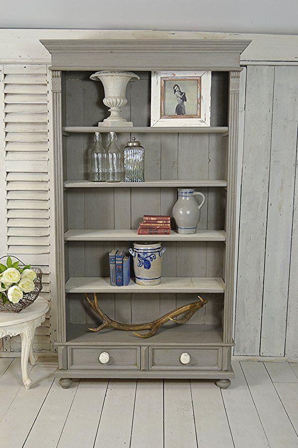 Rustic Dutch Shabby Chic Pine Bookcase artwork | Type 2 ...