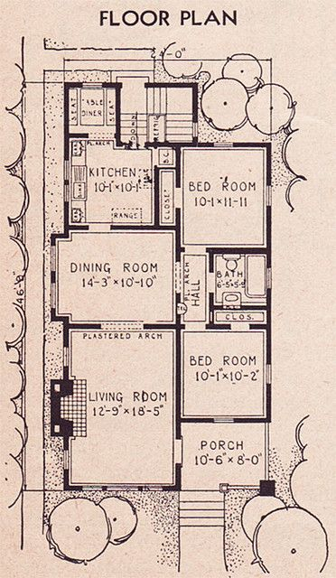 1936 Sears Collingwood Plan How To Plan Floor Plans Vintage House Plans