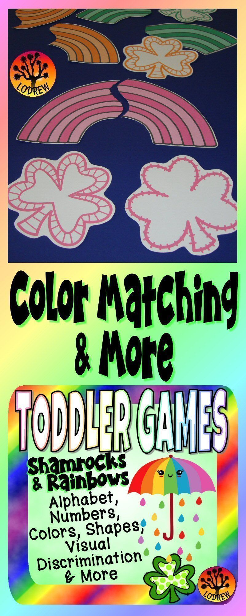62 pages of toddler shamrock and rainbow centers. Activities include ...