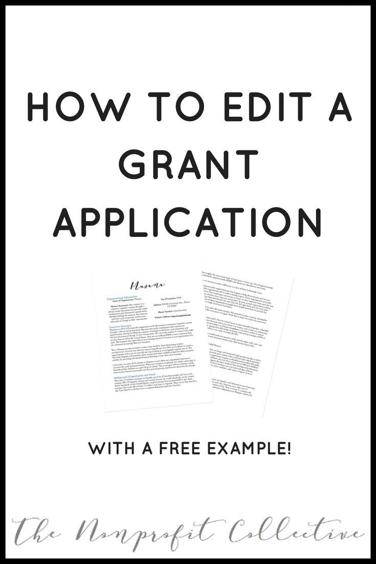 How To Edit A Grant Application Example  Social Enterprise