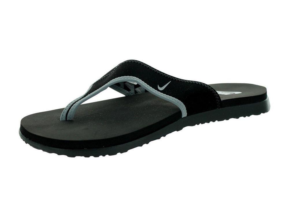 723b6e70c Nike Mens Celso Thong Plus Flip Flops Size 7 Black Grey Sandals 307812   Nike  FlipFlops