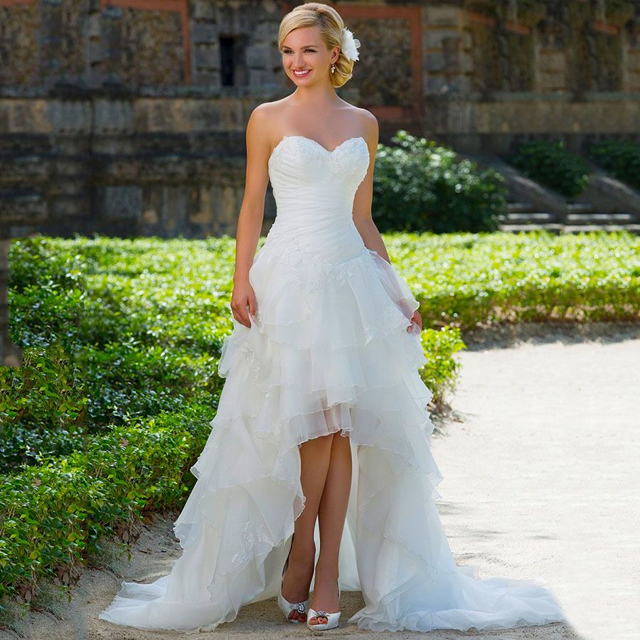 Best wedding dresses aliexpress  Click to Buy ucuc White Debutante Gowns  Short Front Long Back