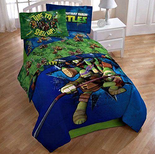 Kids Comforter Sets Nickelodeon Teenage Mutant Ninja Turtles Full Reversible Comforter And Sheet Set 5 Pi Tmnt Bedding Ninja Turtle Room Kids Comforter Sets