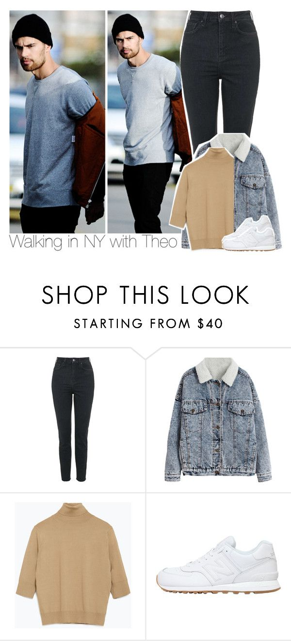 """""""Walking in NY with Theo"""" by swaggxdirection ❤ liked on Polyvore featuring Topshop, Zara, New Balance, women's clothing, women, female, woman, misses and juniors"""