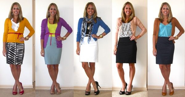 Cute pencil skirt combos, outfit ideas, #sunday