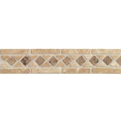 Ceramic Tile Floor Accent Borders Accent Statements Stone Discontinued Beige Mocha Diamond Border Natural Stone Tile Mosaic Stone