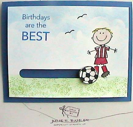 Soccer Birthday Card Happy Birthday Card Happy Soccer Birthday Sports Birthday Card Handmade Birthday Greeting Card for Soccer Players