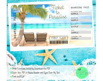 Norwegian Cruise Printable Ticket Cruise Ship Printable Tickets Surprise Vacation Cruise Tickets