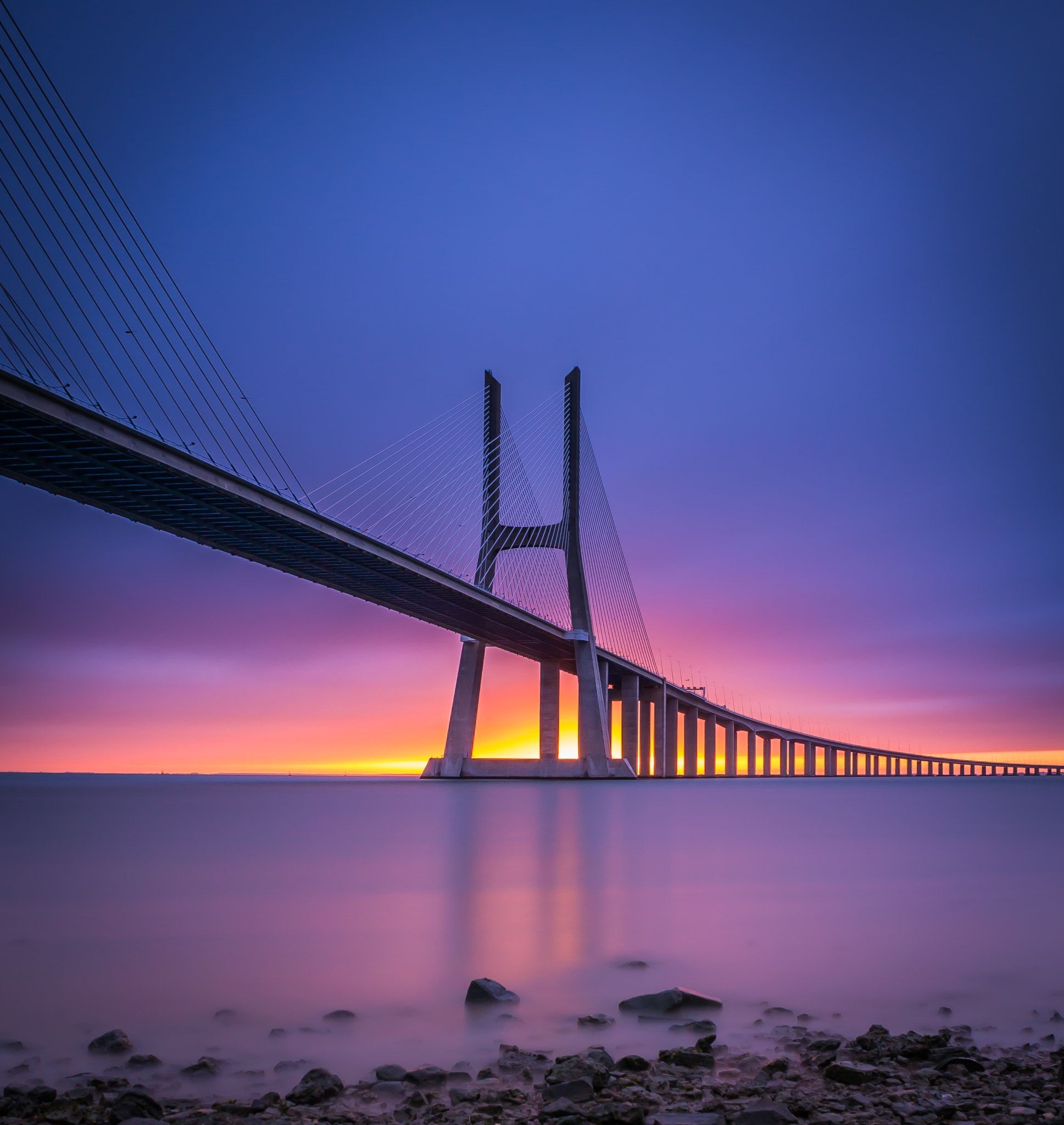 The Bridge Vasco Da Gama Bridge Lisbon Vasco Da Gama Nature Photography Zen Pictures