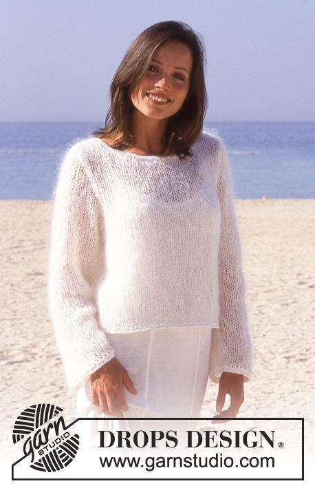 DROPS jumper in Vienna or Melody with borders in Viscose Free ...