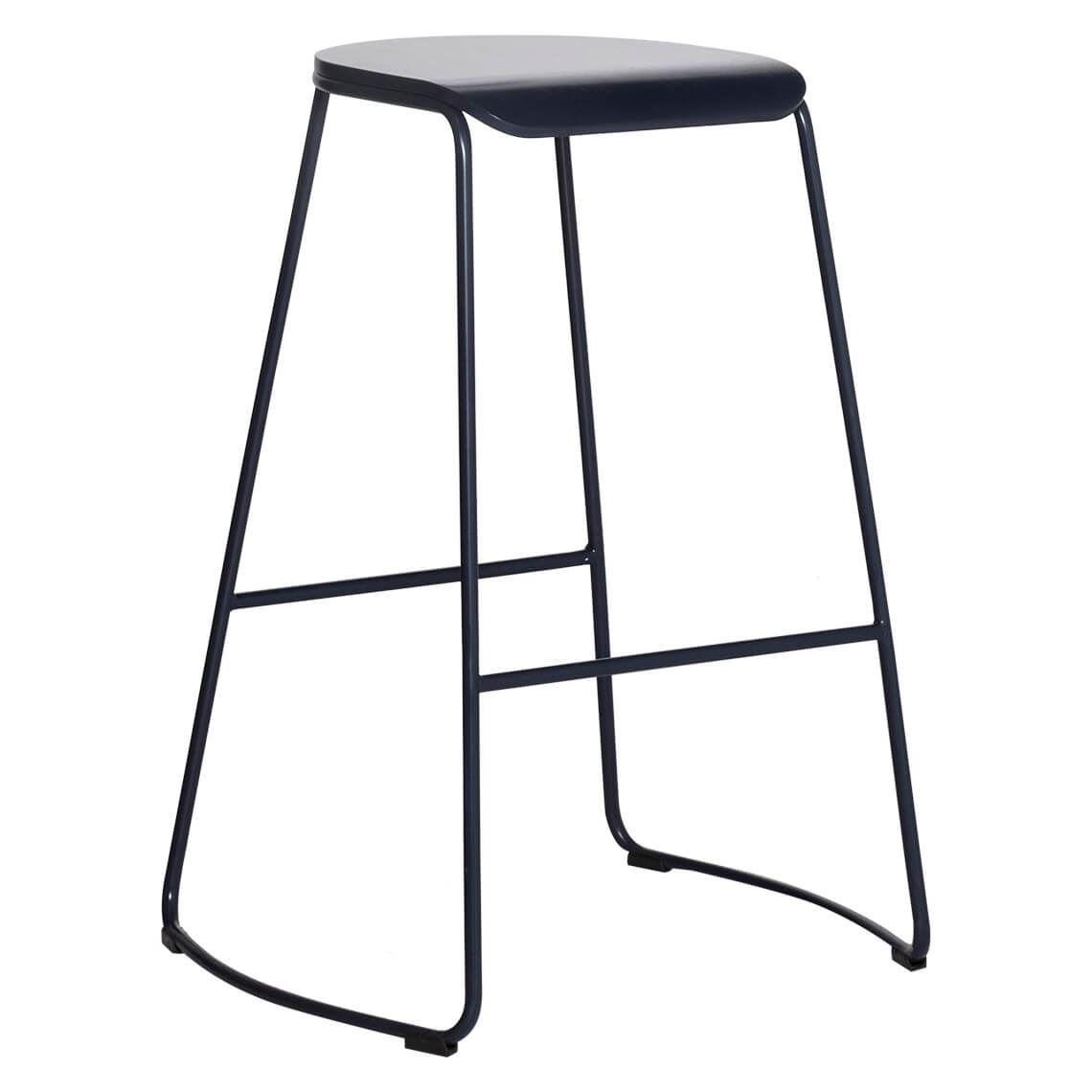 polo bar stool size w 44cm x d 52cm x h 70cm in navy