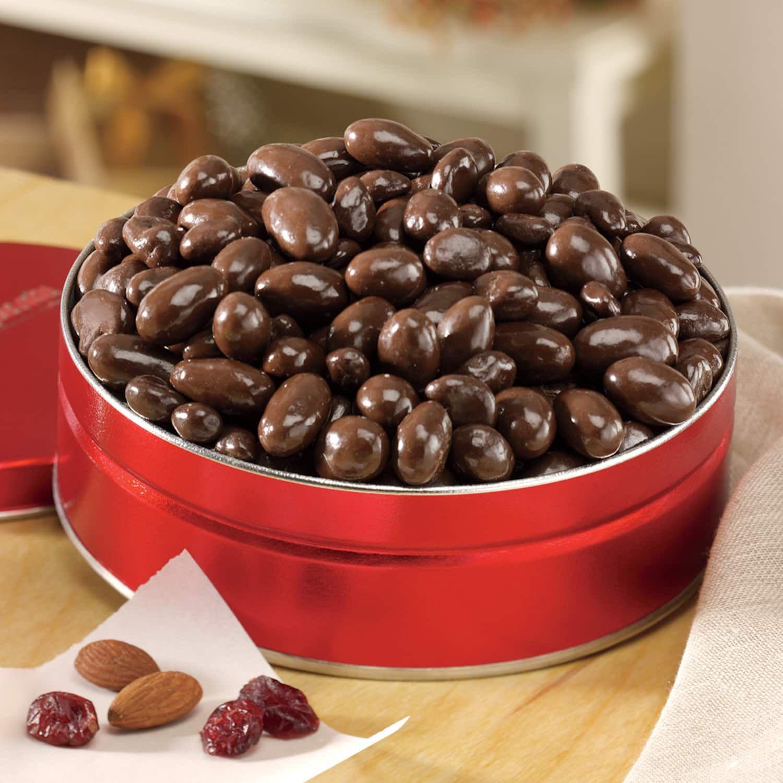 Dark chocolate almonds cranberries swiss colony dark
