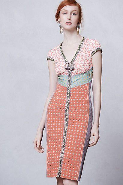 7d8a6050 Anthropologie Lasercut Springtime Sheath Dress Size 2P, Beguile By Byron  Lars