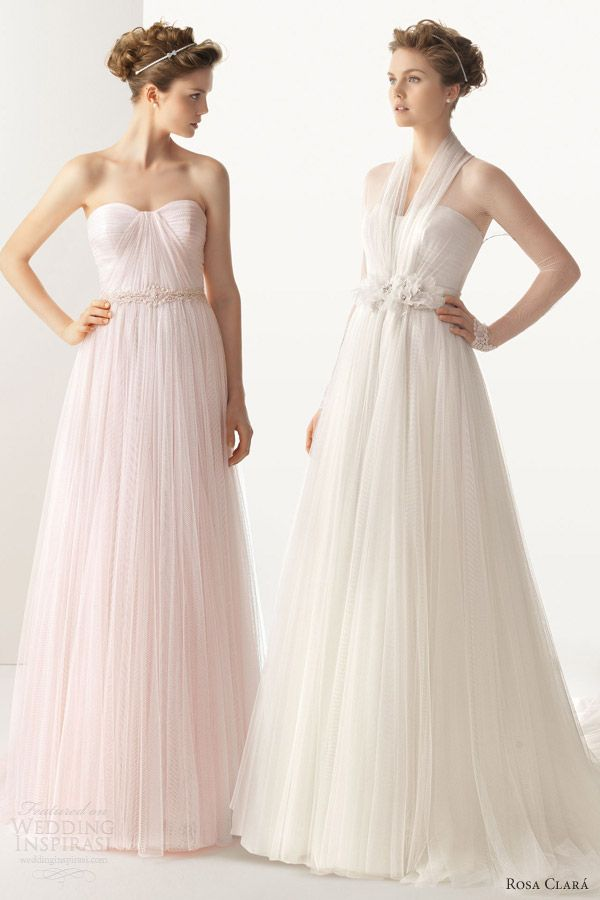 Soft Pink Wedding Gowns - Ocodea.com