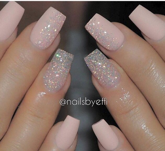 Light Pink Nails Pink Glitter Nails Gorgeous Nails Fancy Nails