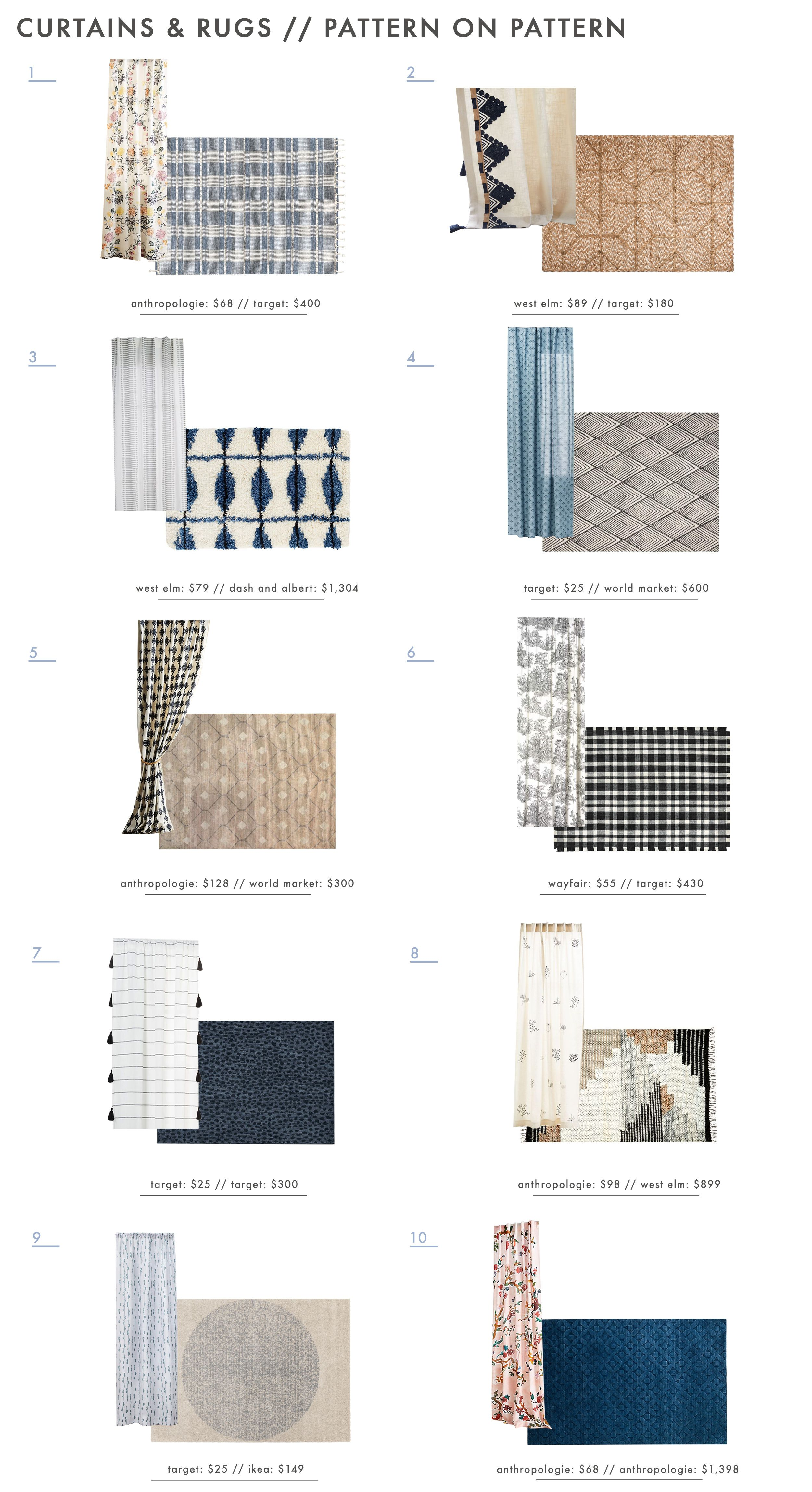 Power Couples How To Expertly Pair Curtains Rugs 30 Combos To Try Emily Henderson Living Room Decor Curtains Patterned Furniture Rugs In Living Room #white #curtains #living #room #ideas